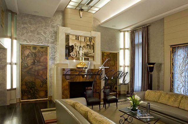 Кованая мебель органично дополняет интерьеры в стиле ар-деко