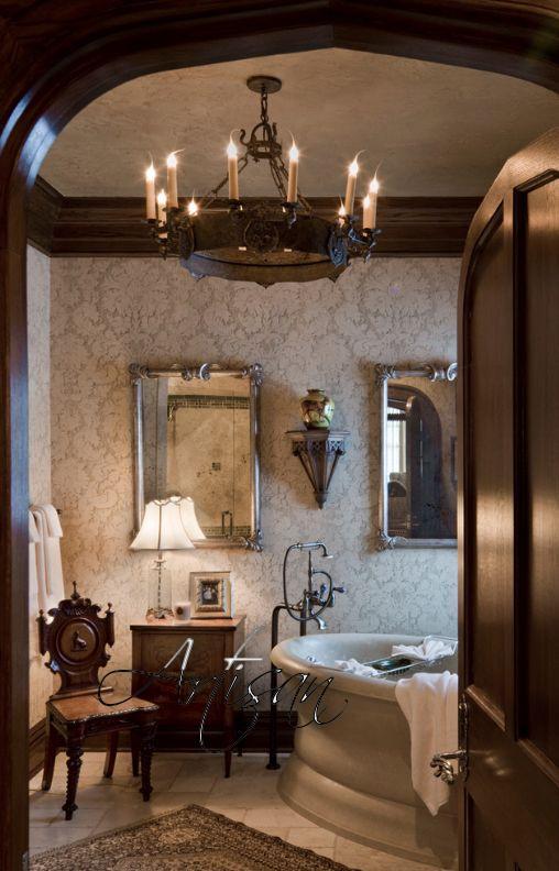 Использование росписи в интерьере в готическом стиле