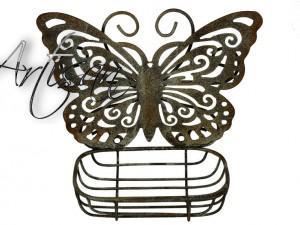 Настенная мыльница металлическая Бабочка