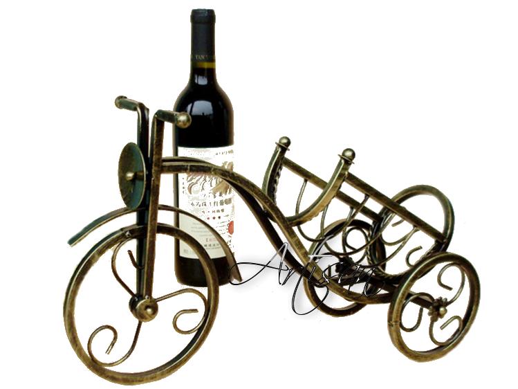 Кованая подставка длдя бутылок с вином - Велосипед