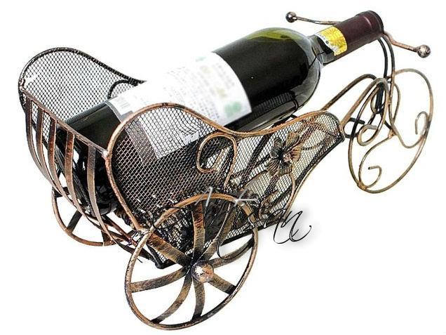 Повозка - кованая подставка для бутылок