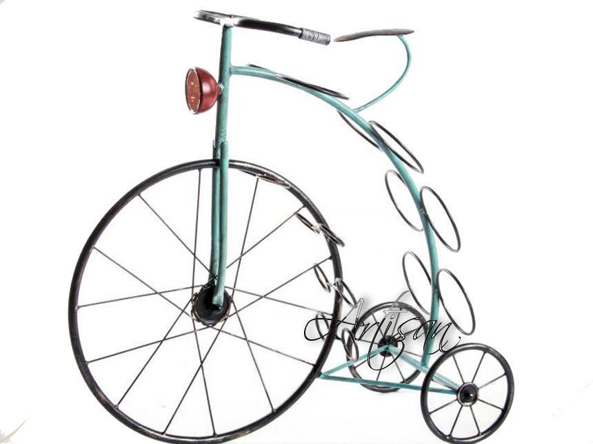 Кованая поставка для бутылок Велосипед