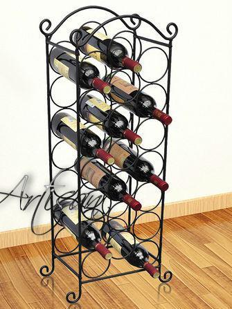 Напольная металлическая подставка для бутылок