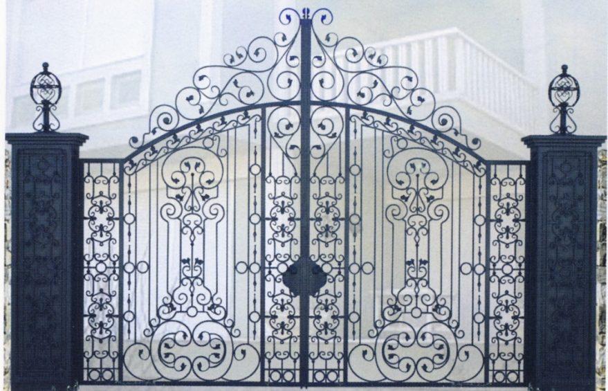 Кованые ворота в стиле барокко