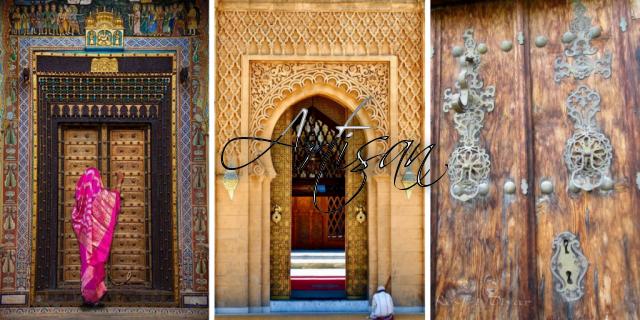 В мусульманских странах до сих пор жива традиция устанавливать на двери два молоточка