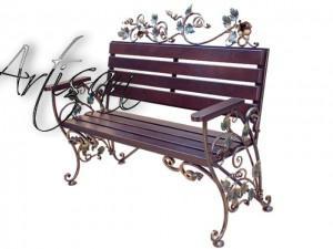 Роскошная кованая скамейка