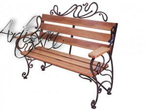 Современная кованая скамейка