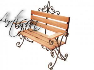 Кованые скамейки для парковой зоны