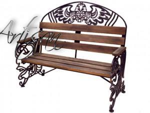 Садовая скамейка для дворцовых парков. Художественная ковка