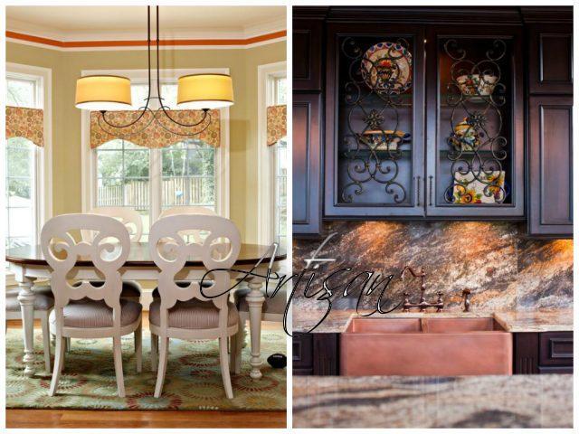 Кованые изделии органично вписываются в ансамбль современных кухонь