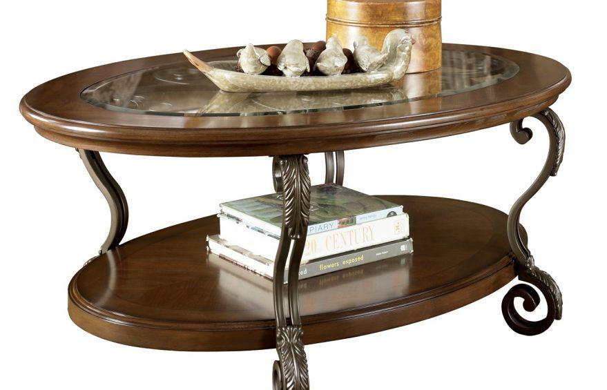 Чайный двухярусный столик. Сочетание деревянных столешниц и кованых ножек