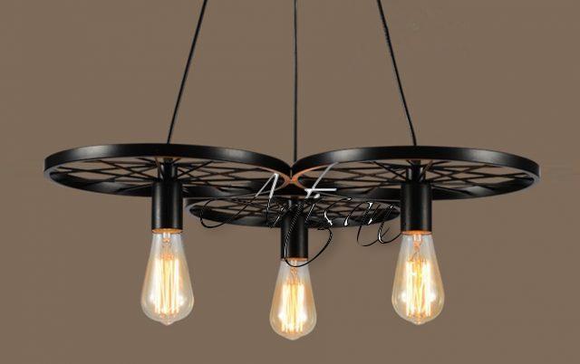 Кованый светильник в индустриальном стиле