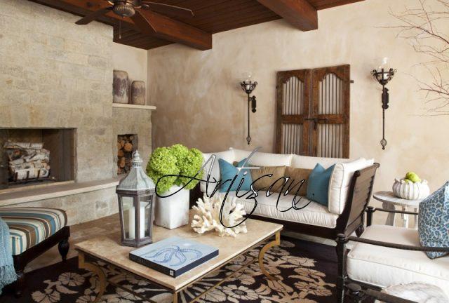Тосканский стиль выстраивается на основе природных тонов – цвета охры, черепицы, светлой штукатурки